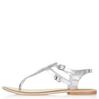 HARBOUR Toe Post Sandals - Silver