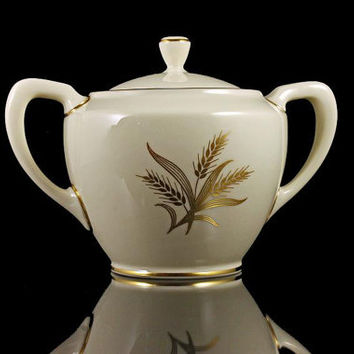 Lenox Sugar Bowl, Harvest Pattern