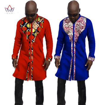 Autumn New Designs Male Shirt Men Shirt Long Sleeve Dashiki African Print Men Shirts Long Shirt Mens African Clothing 6XL WYN53