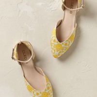 Ellington Yellow Print Flats