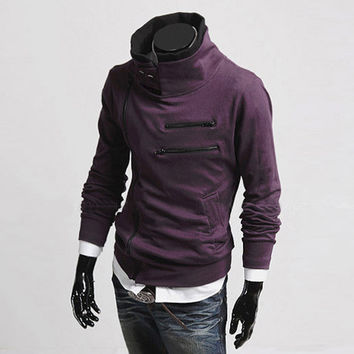 """Renzo"" Side Zip Slim Sweater"