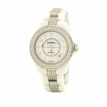 Chanel J12 H1422 38mm Ceramic Factory Diamond Bezel Men's Women's