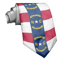 North Carolina flag, American state flag Tie from Zazzle.com