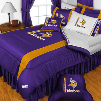 NFL Minnesota Vikings Bed Comforter Set: Queen