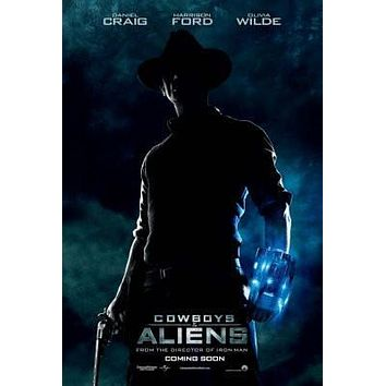 Cowboys And Aliens poster Metal Sign Wall Art 8in x 12in
