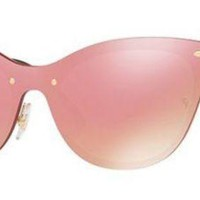 RAY BAN 3580N 3580/N 43 043/E4 BLAZE CHATS OR LUNETTES DE SOLEIL ROSE