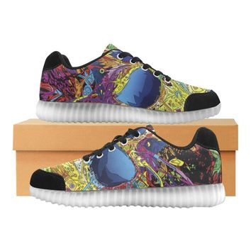 Sugar Skull Light Up Casual Women's Shoes