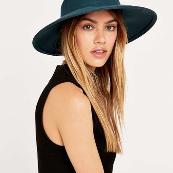 Ecote Kendall Teal Felt Panama Hat - Urban Outfitters