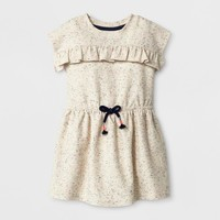 Toddler Girls' Cap Sleeve A Line Dress - Cat & Jack™ - Cream