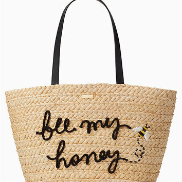 picnic perfect straw bee tote | Kate Spade New York