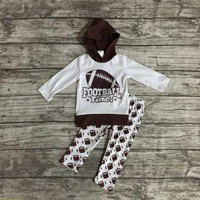kids Fall clothes baby fooball hoodie + Pants