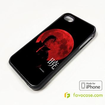 NARUTO SHIPPUNDEN UCHIHA OBITO SHARINGAN iPhone 4/4S 5/5S/SE 5C 6/6S 7 8 Plus X Case Cover