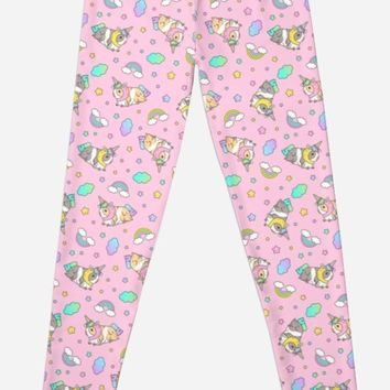 'Piggycorn Pattern in pink ' Leggings by Miri-Noristudio