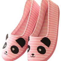 Stripe Panda Cozy Slip-On Flat Yoga Shoes