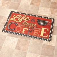 Coffee Brights Floor Mat Cushioned Primitive Rustic Country Kitchen Home Decor