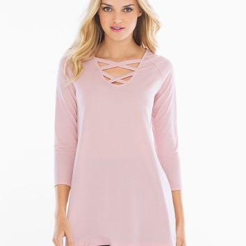 Soma Strappy Front Tunic Vintage Pink