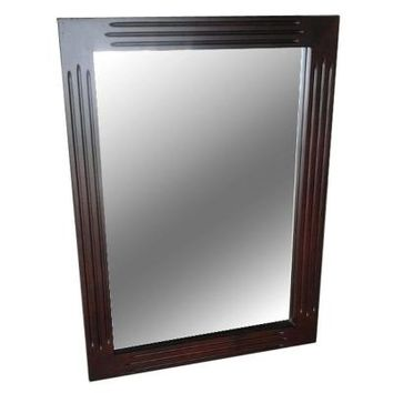 Belle Foret Carsen 30 in. L x 22 in. W Wall Mounted Mirror in Chocolate-BFCARSENMR - The Home Depot