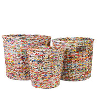 Recycled Woven Paper: Small Can