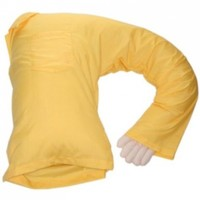 Deluxe Comfort Boyfriend Body Pillow, Yellow and White:Amazon:Home & Kitchen