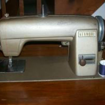 Vintage - Kenmore  Electric Rotary Sewing Machine (49) in Wood Cabinet -sewing-Supplies-electronics-crafts