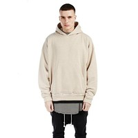 cc kuyou Plain Pullover Hoodie