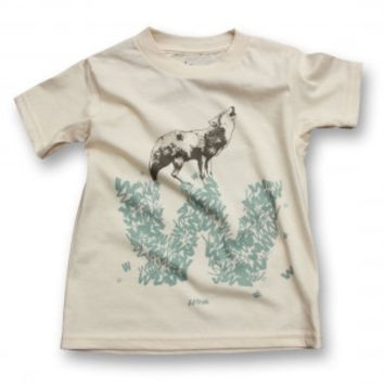 biome5 Organic Letter Tees W: Wolf