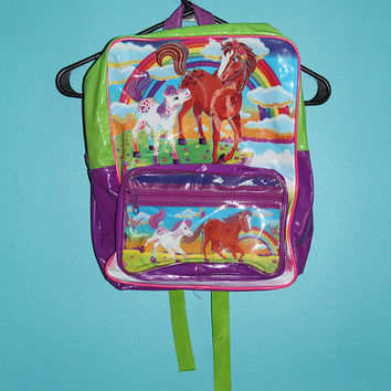 Lisa Frank Horses Backpack