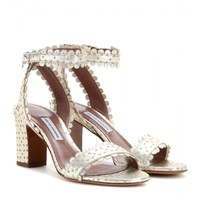 tabitha simmons - leticia metallic leather sandals