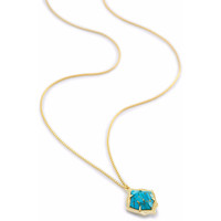 Kendra Scott: Kacey Long Pendant Necklace In Bronze Veined Turquoise