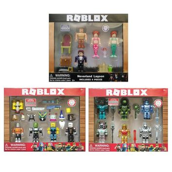 4-6pcs/set New Game Roblox Mermaid Figma Oyuncak 2018 Cartoon PVC Action Figure Toys Kids Collection Ornaments Gift For Kid's