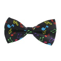 Men's Bow Ties Color Graffiti Adjustable Musical
