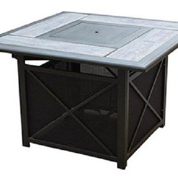 Four Seasons Courtyard 16S7402C Sedona Tile Top Fire Pit Table, 40'', Square