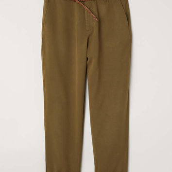 H&M Lyocell-blend Chinos $34.99