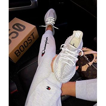 Adidas Yeezy 350V2 Boots Static Fashion Women Men Casual Sport Gym Shoes Sneakers I/A