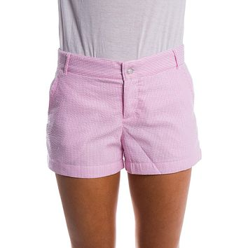 Seersucker Poplin Shorts in Pink by Lauren James - FINAL SALE