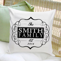 16x16 Throw Pillow Family - Classic Black