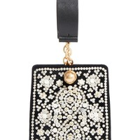 Tory Burch Dexter Embellished Leather Clutch | Nordstrom