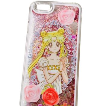 Transparent Sailor Moon Glitter Phone Case