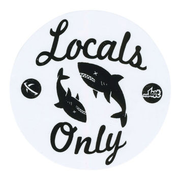 Lost Locals Only Sticker White One Size For Men 24091015001
