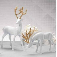 Gold & Porcelain Reindeer by Zodax