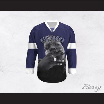 Big Poppa B.I.G. 21 Blue Hockey Jersey