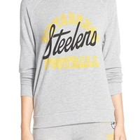 Women's Junk Food 'Steelers Football' Pullover Sweatshirt,