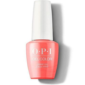 OPI GelColor - Orange You a Rock Star? 0.5 oz - #GCN71