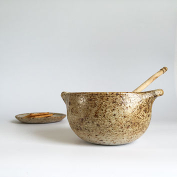 HANDMADE Bowl with Plate - Ready to Ship - Ceramic, Pottery, Soup, Noodles, Cereal