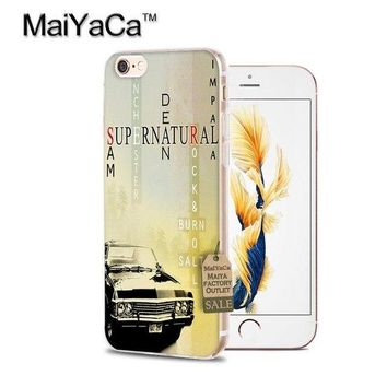MaiYaCa Supernatural Impala Poster driver truck music Transparent TPU Soft Cell Phone Cover For iPhone 4s 5s 6s 7 7plus case