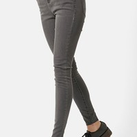 Women's Topshop Moto 'Leigh' Ankle Skinny Jeans (Grey)