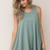 A Simple Time Dress in Green – Dress Up