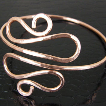 Copper Snake Upper Arm Cuff, Armband, Hammered Copper Armlet, Arm Bracelet, Arm Jewelry