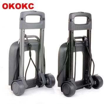 OKOKC Travel Accessories 2 Wheel Rolling Cart Removable Trolley Kids Schoolbag Luggage Carts for Girls and Boys