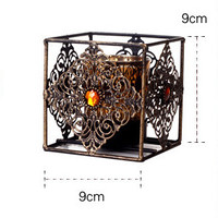 Bohemian Style Bronze Candlesticks Stand Lantern Metal Weddings Lantern Rotera Candle Holder House Shop Decoration